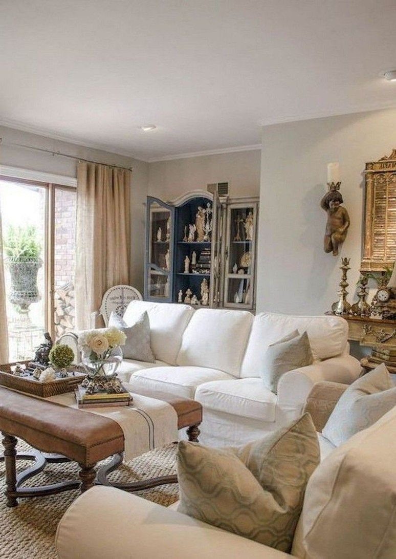 45 Perfect French Country Living Room Design Ideas images
