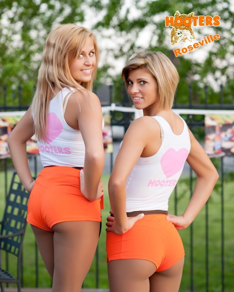 girl orange hooters ass