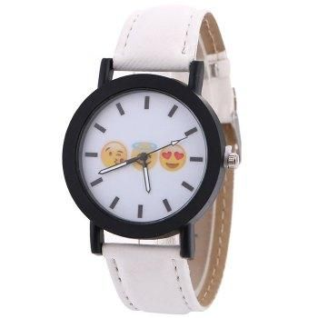 #AdoreWe #DressLily Dresslily Faux Leather Strap Emoticon Face Watch - AdoreWe.com