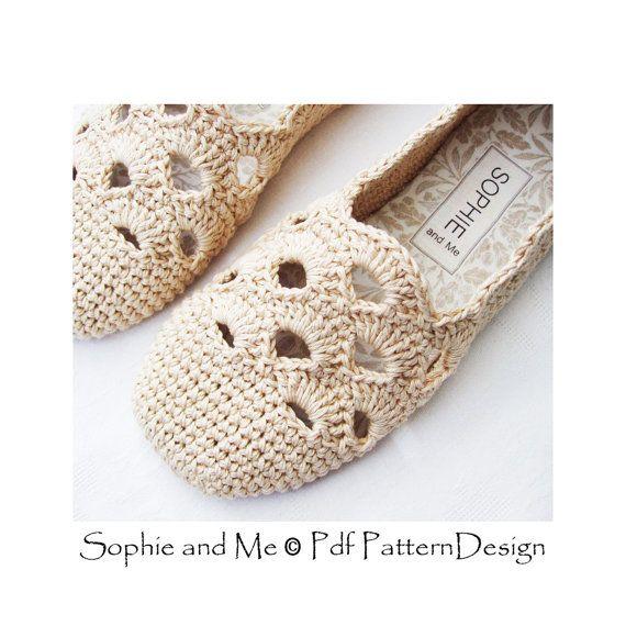 Venezia Slippers Basic Crochet Pattern Espadrilles Instant | zapatos ...