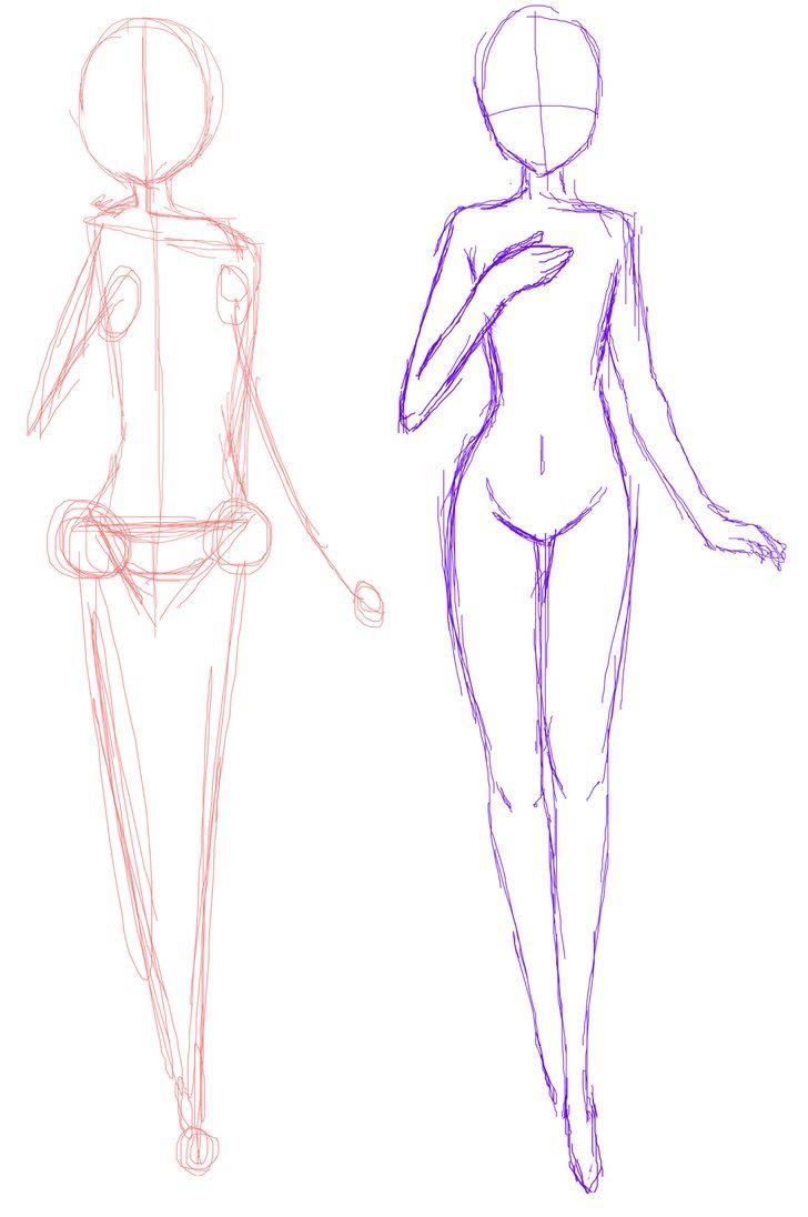 Anime Girl Base Sketch : anime, sketch, Anime, Sketch, Materi, Pelajaran