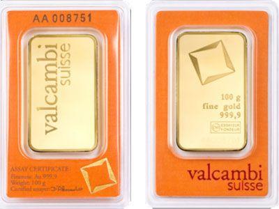 Valcambi 100 Gram 999 9 Fine Gold Bullion Bar Gold Bullion Bars Gold Bullion Bullion