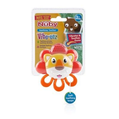 Nuby Vibe-Eez Vibrating Teether Lion