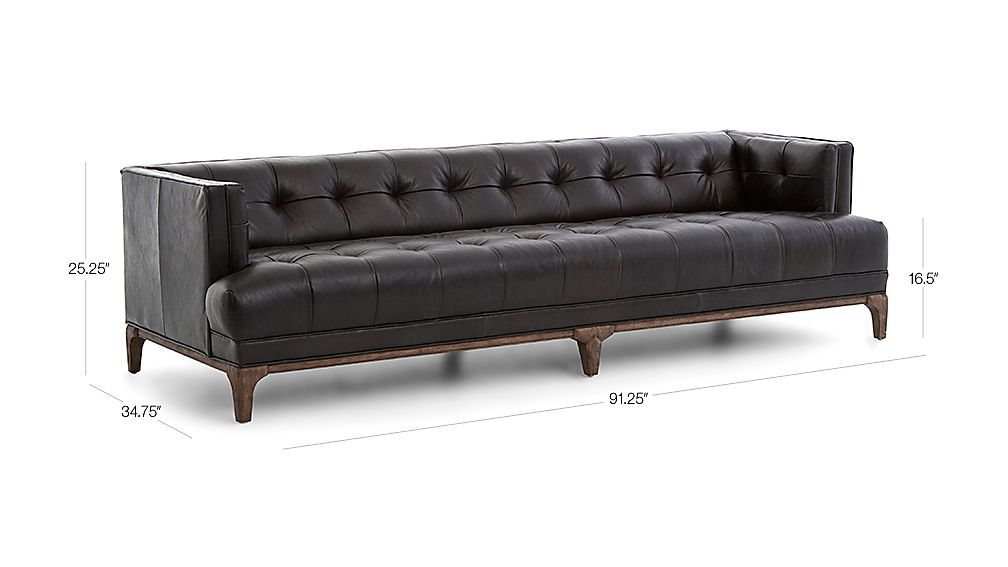 Remarkable Byrdie Black Leather Modern Tufted Sofa Furniture In 2019 Dailytribune Chair Design For Home Dailytribuneorg