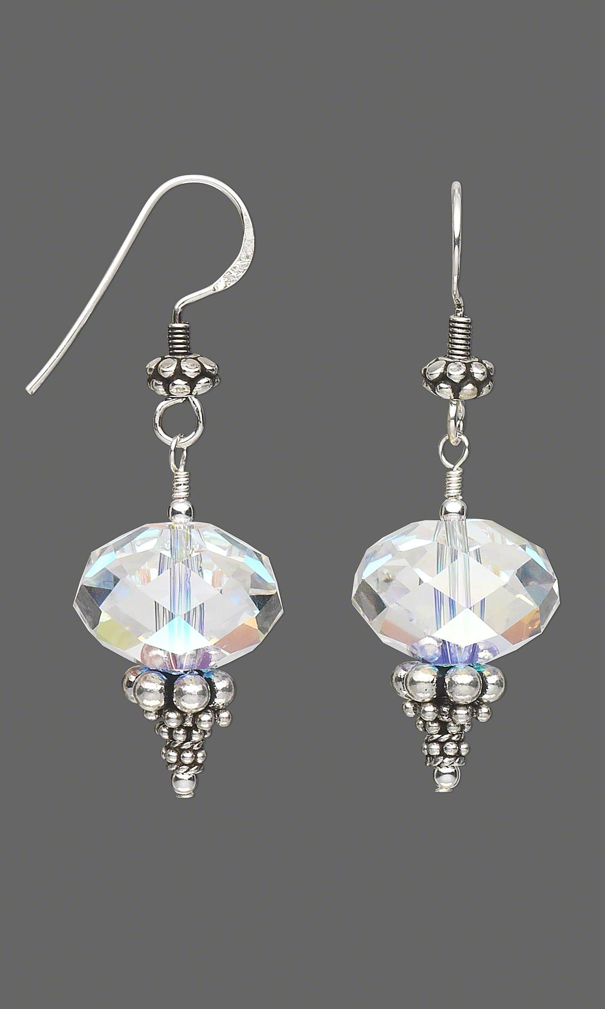 Jewelry Design - Earrings with Swarovski Crystal Beads and ...