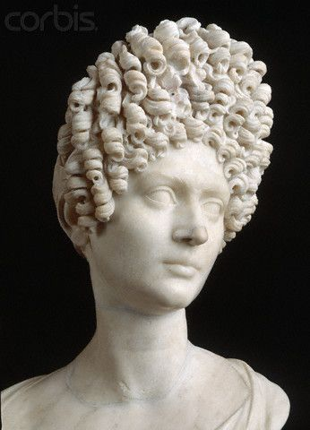 Imperial Roman Sculpture Head Of A Woman With Curly Hair