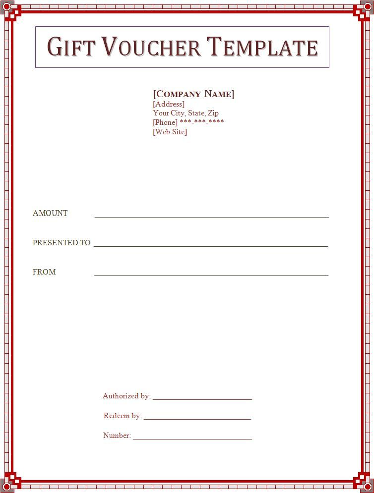 Gift voucher template professional templates pinterest blank voucher excellent gift voucher template example with nice red frame and negle Choice Image