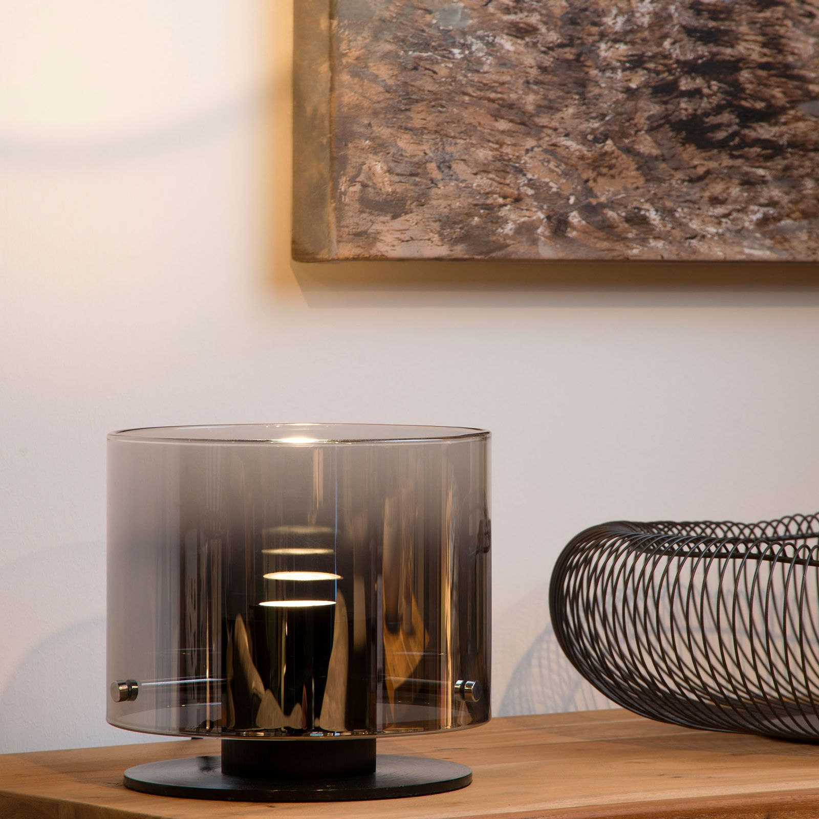 Owino LED table lamp with mirror effect by Lucide