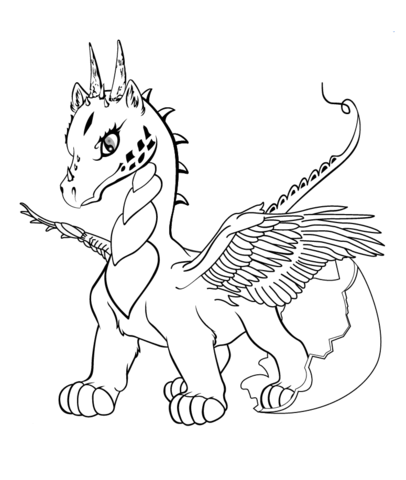 Baby Dragon coloring page from Dragon category. Select from 20946 ...