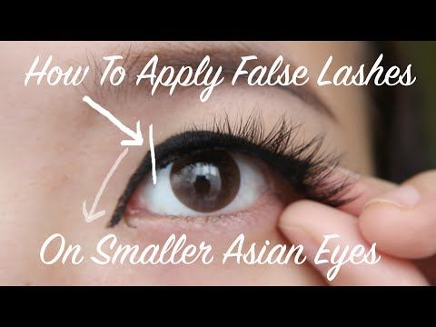 983e65e8c68 How to Apply Fake Lashes on Monolids & Asian Eyes - YouTube | Makeup ...