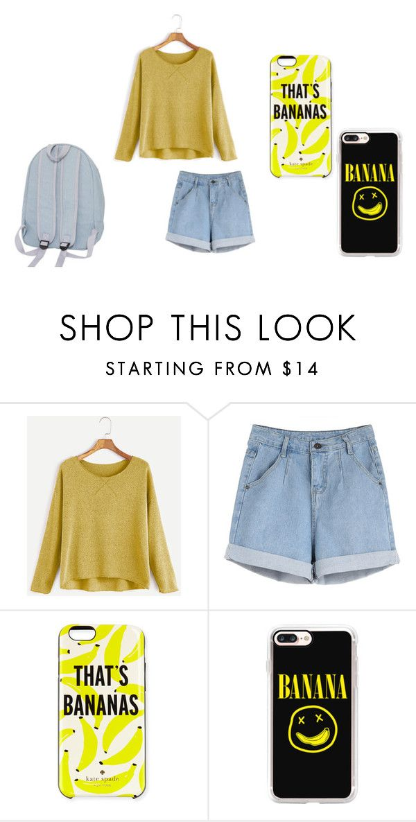 """""""i ain't no hollaback girl"""" by fashionblogger-7 on Polyvore featuring Kate Spade and Casetify"""