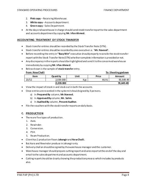 Sop Format For Accounts Department Google Search Accounting Standard Operating Procedure Department