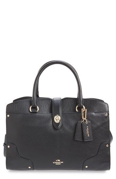 Coach Mercer 30 Leather Satchel Available At Nordstrom