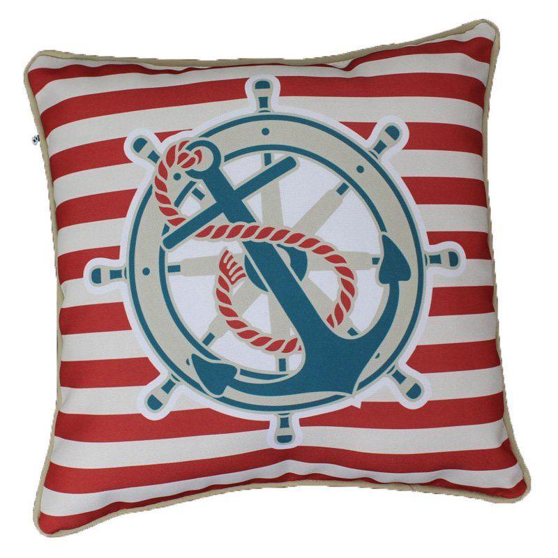 Lava Nautical Stripe Anchor Indoor/Outdoor Pillow   34860.999
