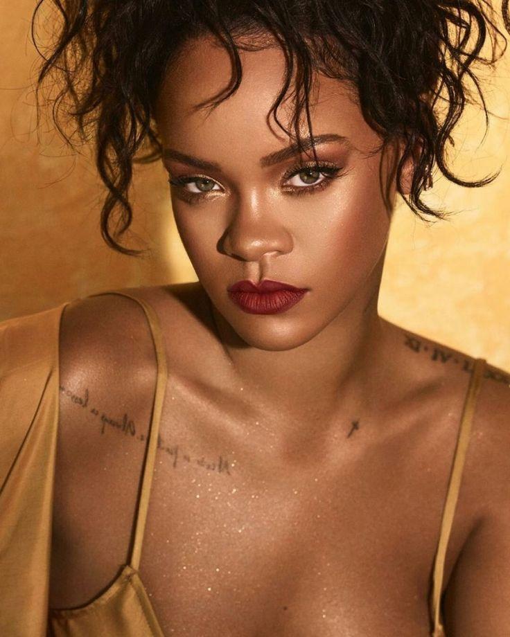 Rihanna Stuns in Fenty Beauty Moroccan Spice Palette  beauty
