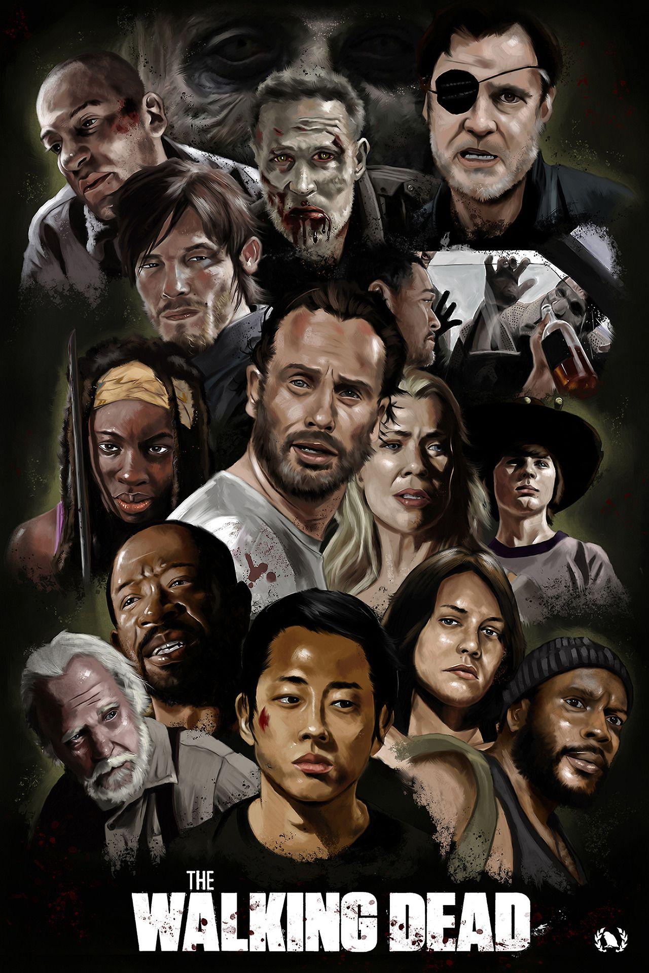 Pin by BROTHERTEDD on The Walking Dead | Walking dead fan art, Walking dead  art, Walking dead show