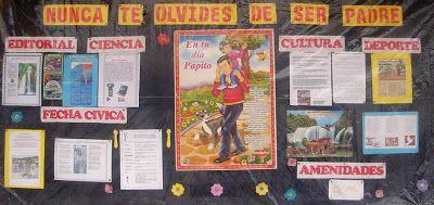 dia del padre en peri dico mural colegio pachacutec