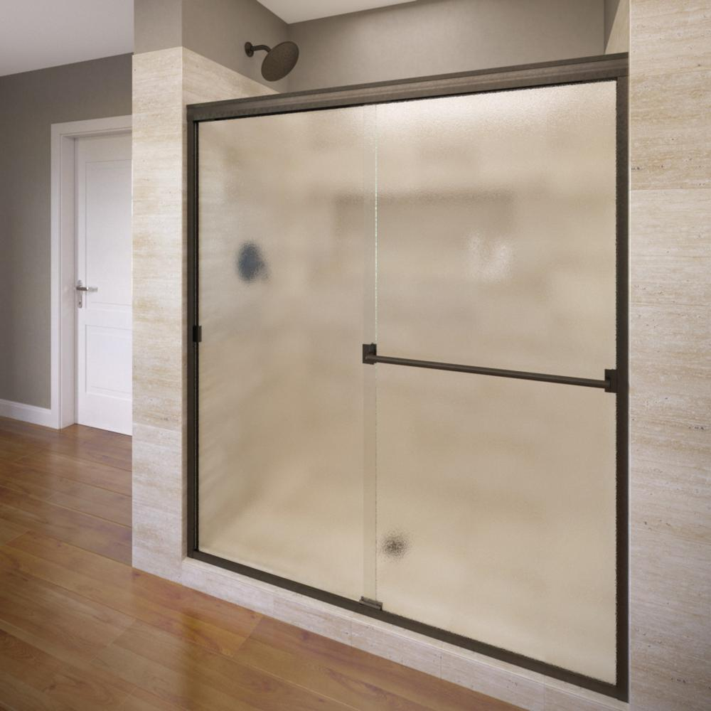 Basco Classic 44 In X 70 In Semi Frameless Sliding Shower Door