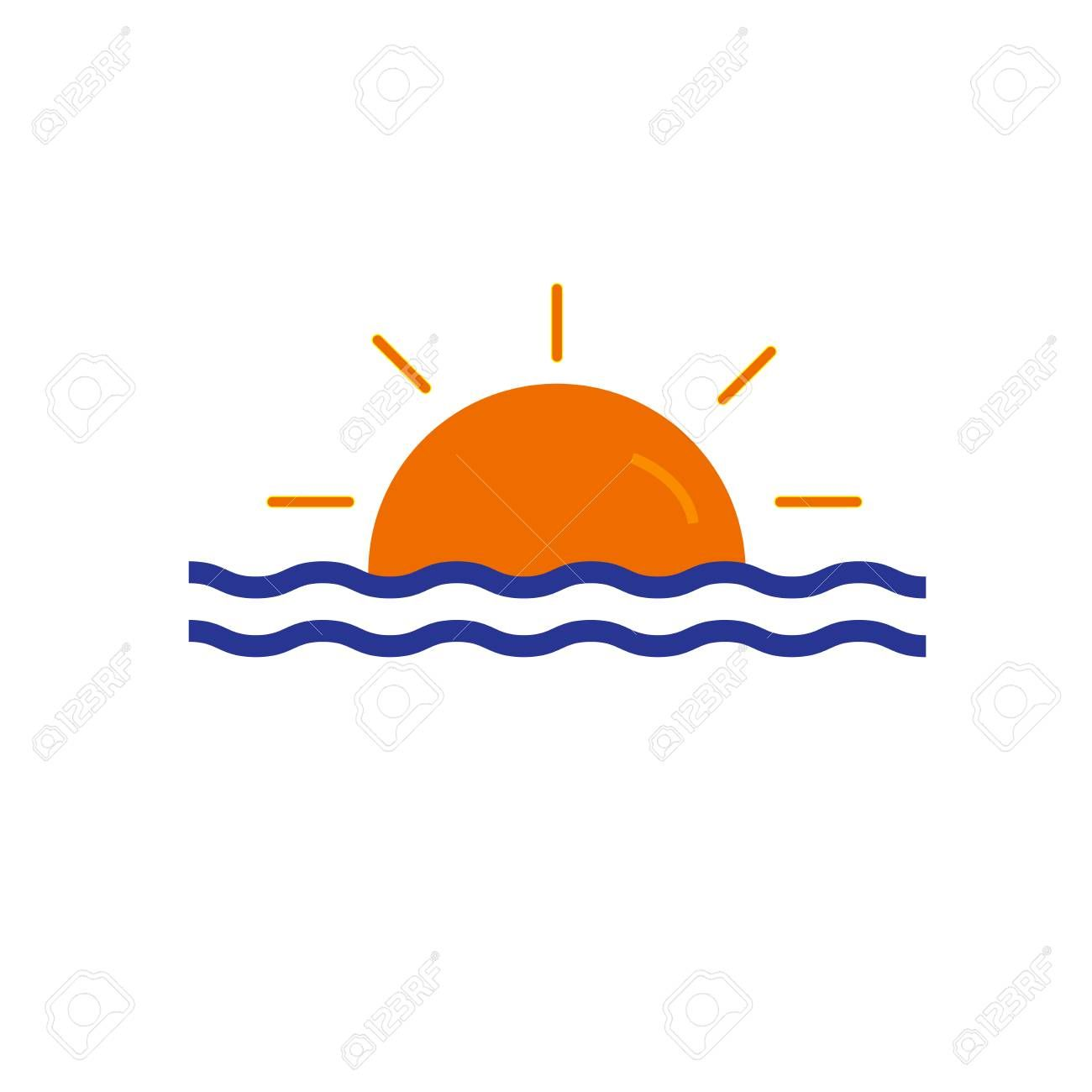 sunset icon vector isolated on white background for your web and mobile app design sunset icon concept sponsored isolat app design mobile app design mobile app pinterest