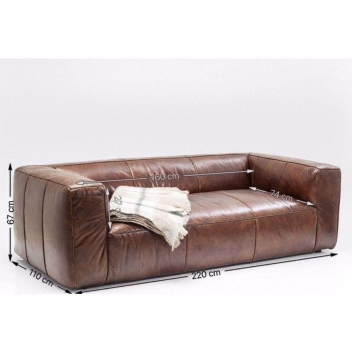 Canape En Cuir Cubetto 220cm Mobilier De Salon Canape Cuir Canape