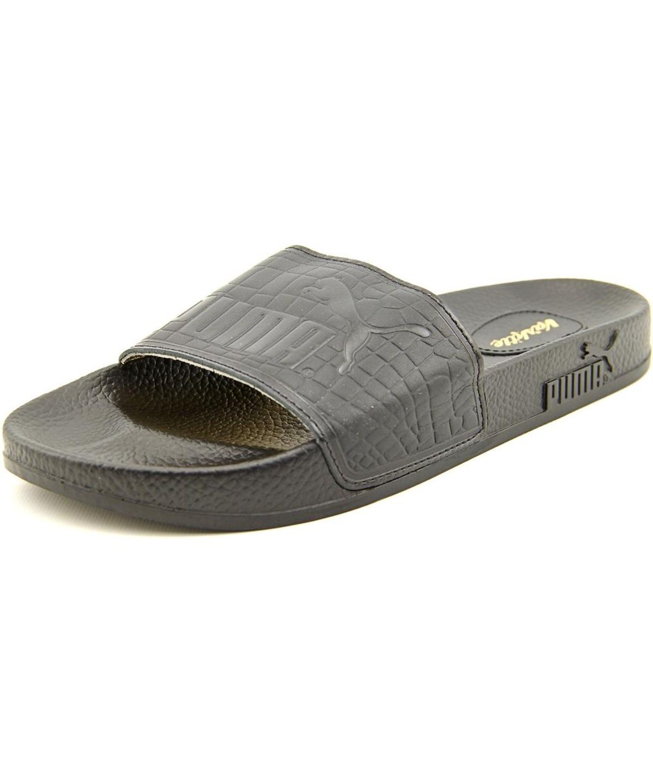 b0dbc0f2caa73 PUMA Puma Top Slide X Vashtie Men Open Toe Leather Black Slides Sandal .   puma  shoes  sandals