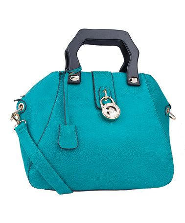 Turquoise & Black Convertible Tote by MKF Collection #zulily #zulilyfinds