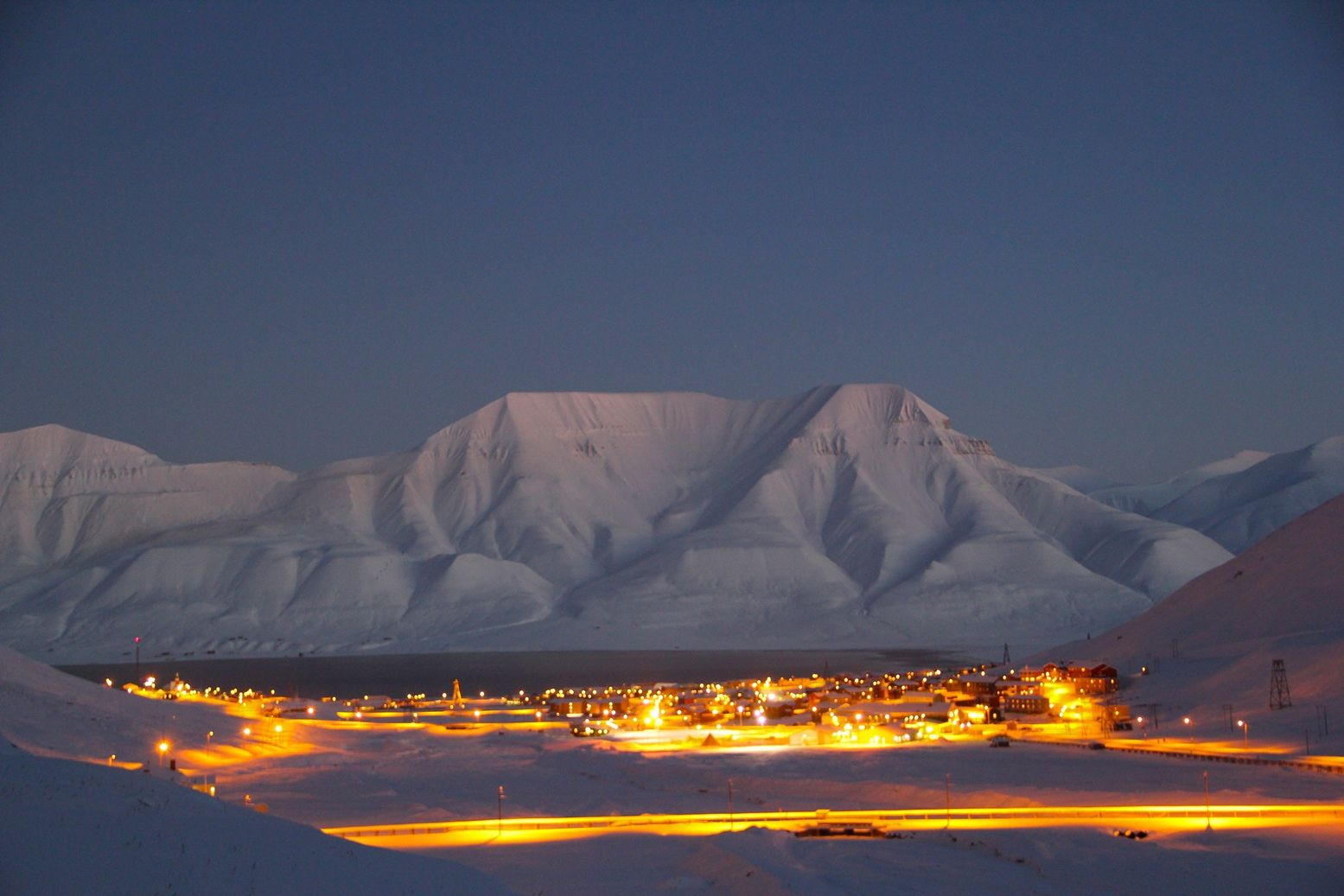 The northernmost town in the world: Longyearbyen, Svalbard, Norway