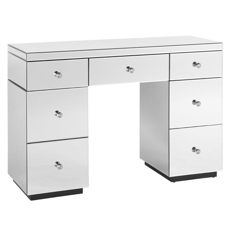 vanity dressing table with drawers. Mirrored 7 Drawer Vanity Dressing Table in White Shard Diamond Mirror Only  319 00 on wrenliving com