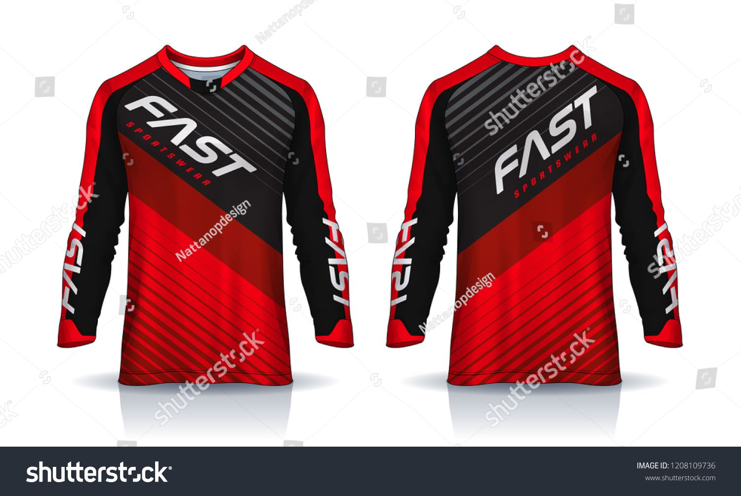Download T Shirt Sport Design Template Long Sleeve Soccer Jersey Mockup For Football Club Uniform Front And Back Vie Sports Tshirt Designs Sports Design Sport T Shirt