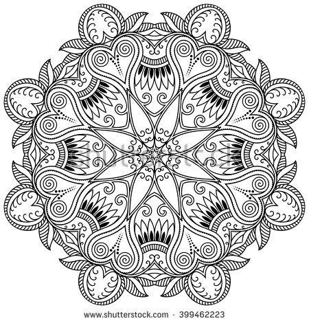 Vector henna tatoo mandala. Mehndi style. | coloring-Mandalas ...
