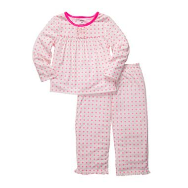 Carter's® Pink Dot 2-pc. Pajamas - Girls 12m-24m - jcpenney