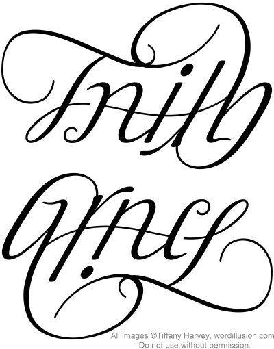 Faith Grace Ambigram V 3 By Tiffanyharvey Via Flickr