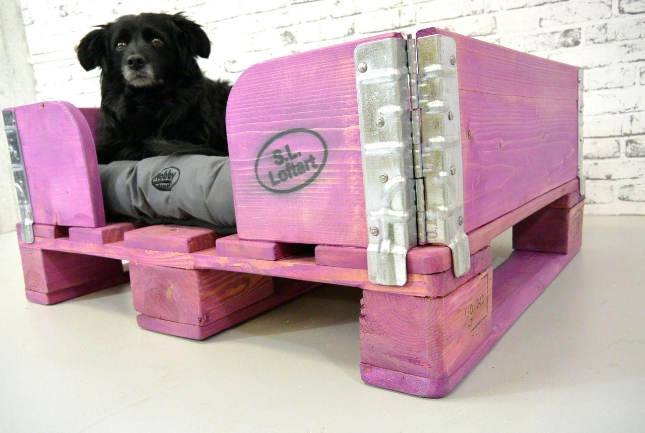 Paletten Hundekorb 'HELGA'  Ausstellungsstück Violet