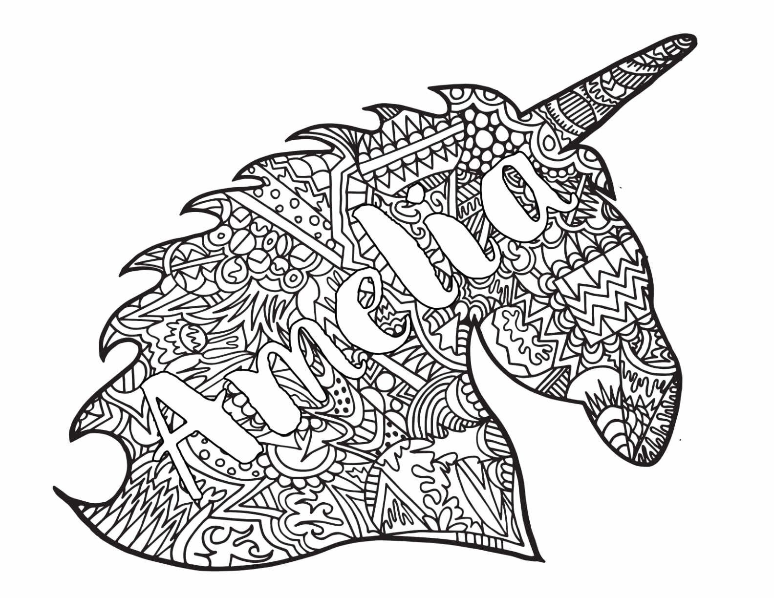 2 Amelia Free Coloring Pages Uicorn Classic Doodle Free