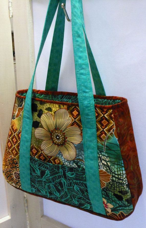 Multi Fabric Purse Fabric Bags Patchwork Bags Quilted Bag