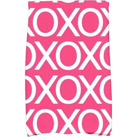 Simply Daisy 16 X 25 Valentine Print Kitchen Towel Walmart Com Valentine Print Towel Colors Hand Towels
