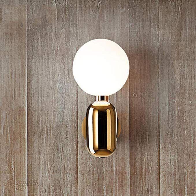 Kaxima LED Nachttischlampe Schlafzimmer führte Wand Glas