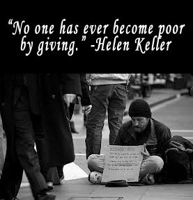 The Life-Saving Garden: Homeless Bag: Why Should You Give One? | Homeless  quotes, Helen keller quotes, Inspirational quotes