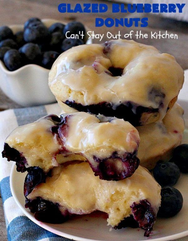Blueberry Donuts Glazed Blueberry Donuts | Can't Stay Out of the Kitchen | if you want to wow your family & friends, make these heavenly for They're absolutely spectacular.Glazed Blueberry Donuts | Can't Stay Out of the Kitchen | if you want to wow your family & friends, make these heavenly for They'r...
