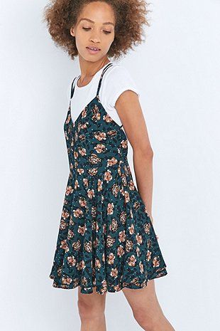 Pins And Needles Clothing Pins & Needles Scarlet Floral Green Dress  Autumn  Pinterest