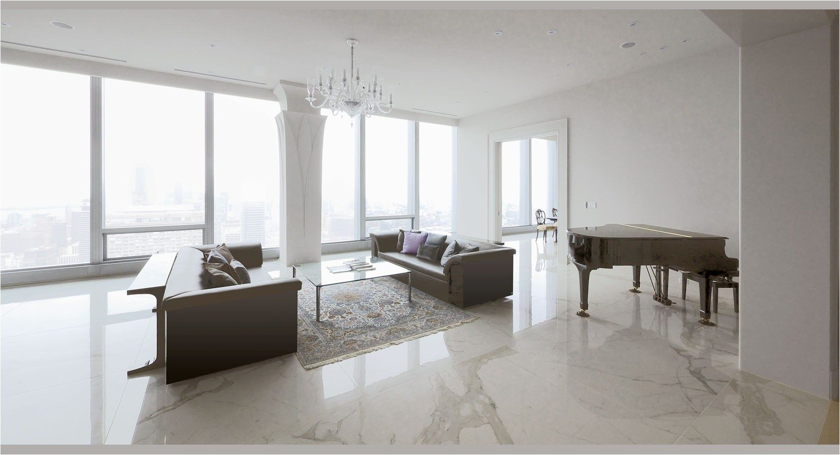 40 Stunning And Clean White Marble Floor Living Room De