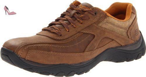 Diameter Blake, Chaussures de ville homme - Marron (Brn), 44 EU (9.5 UK) (10.5 US)Skechers