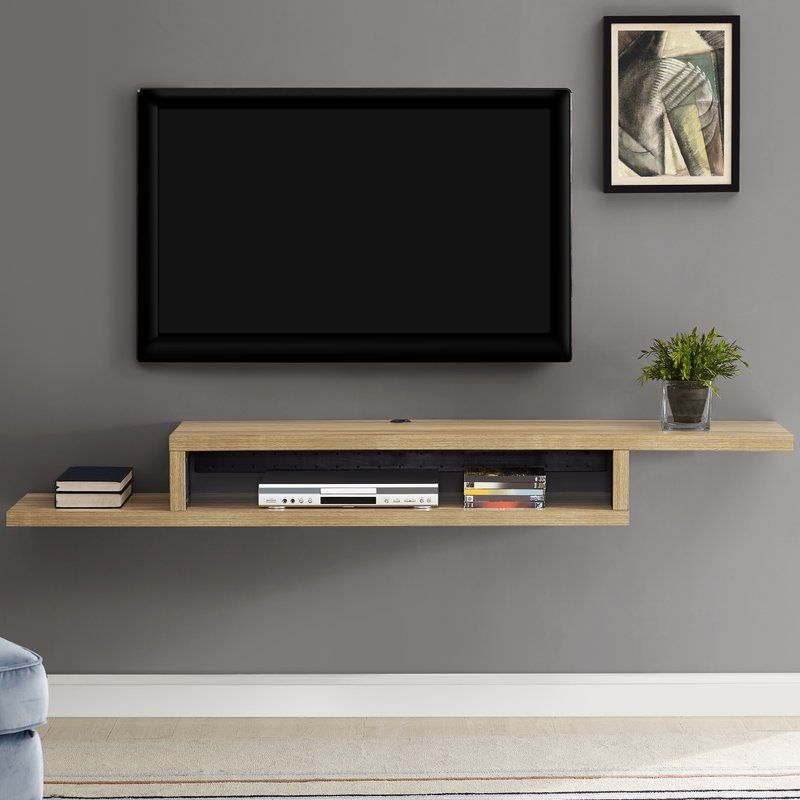 Ascend 72 Asymmetrical Wall Mounted Tv Component Shelf Pallet Furniture Tv Stand Living Room Tv Wall Living Room Tv
