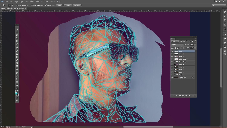 Adobe illustrator photoshop tutorial create a low poly portrait adobe illustrator photoshop tutorial create a low poly portrait digital arts baditri Gallery