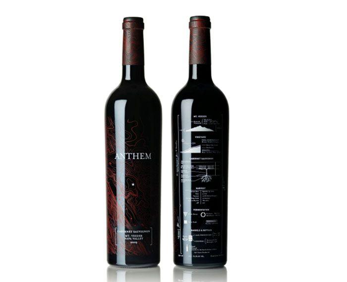 Anthem Wine Wine, Wine design and Bottle design - free wine label design