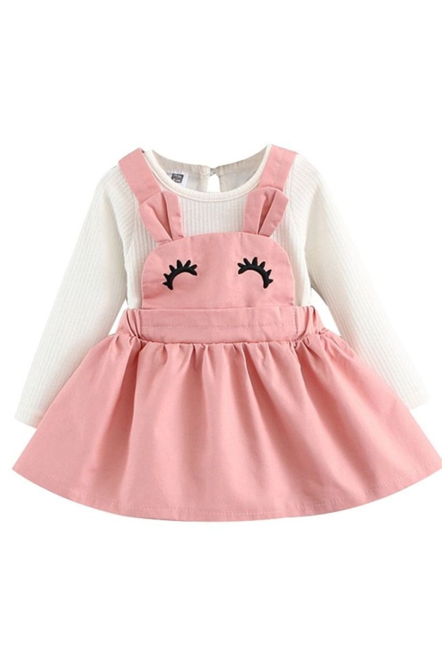 Toddler Kid Baby Girls Fake two Dress Princess Party Wedding suspenders Dresses