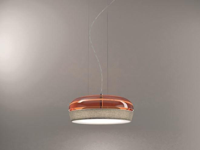 Dome pendant lamp by de majo illuminazione design chiaramonte