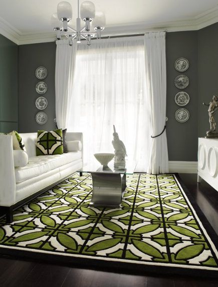 beautiful space - Green Tiles For Living Room Floor