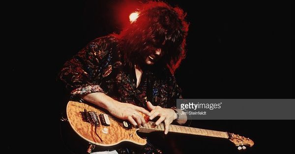 Van Halen guitarist Eddie Van Halen performs in Minneapolis Minnesota on April 2 1992. #music
