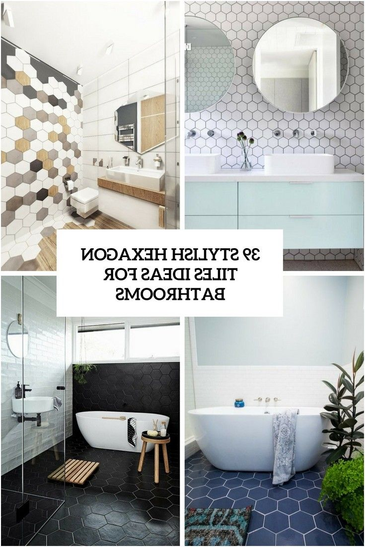 39 stylish hexagon tiles ideas for bathrooms digsdigs from Hexagon ...